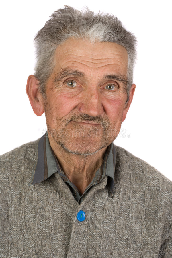Download Old farmer on white stock image. Image of formal, copy - 8277647