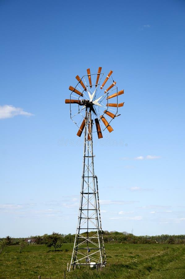 Old farmer windmill stock photo