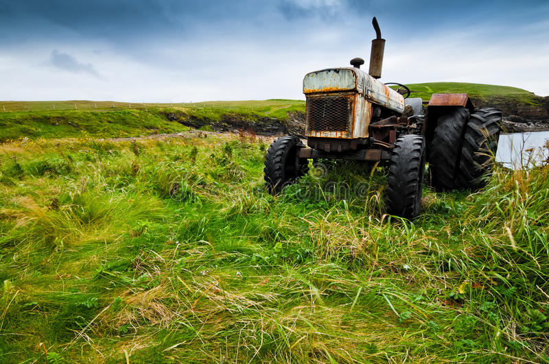 Download Old farmers tractor stock photo. Image of remote, rural - 19209352