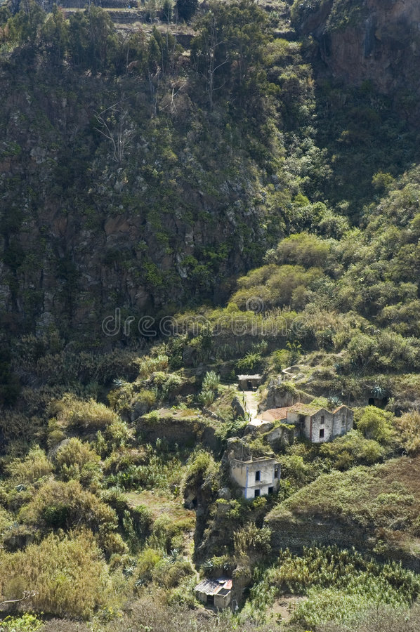 Old farmhouse in Firgas, Gran Canaria stock images