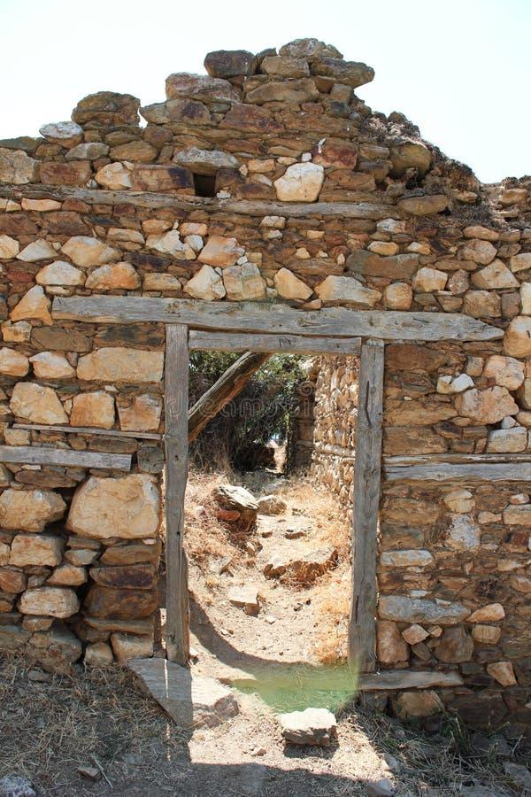 Old farmhouse in Prespes Lake Florina Greece. Europe stock photography