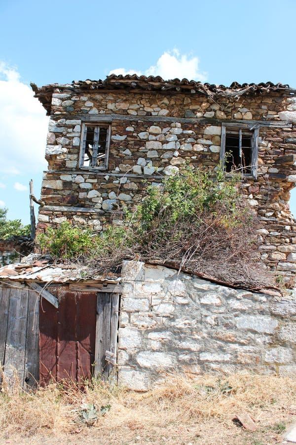 Old farmhouse in Prespes Lake Florina Greece. Europe stock image