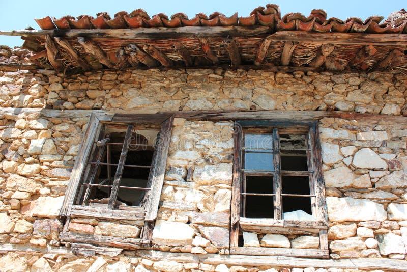 Old farmhouse in Prespes Lake Florina Greece. Europe royalty free stock image