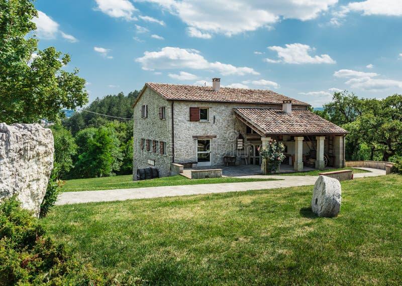 Old farmhouse in Tuscan stock photo