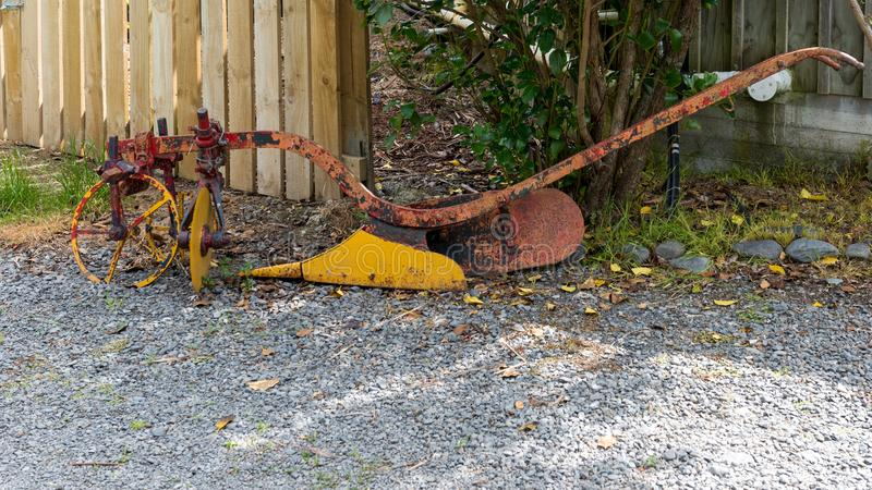 Old farming equipment discarded and unused royalty free stock images
