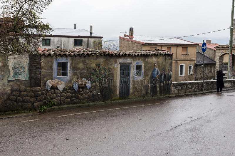 Old with murals stock images