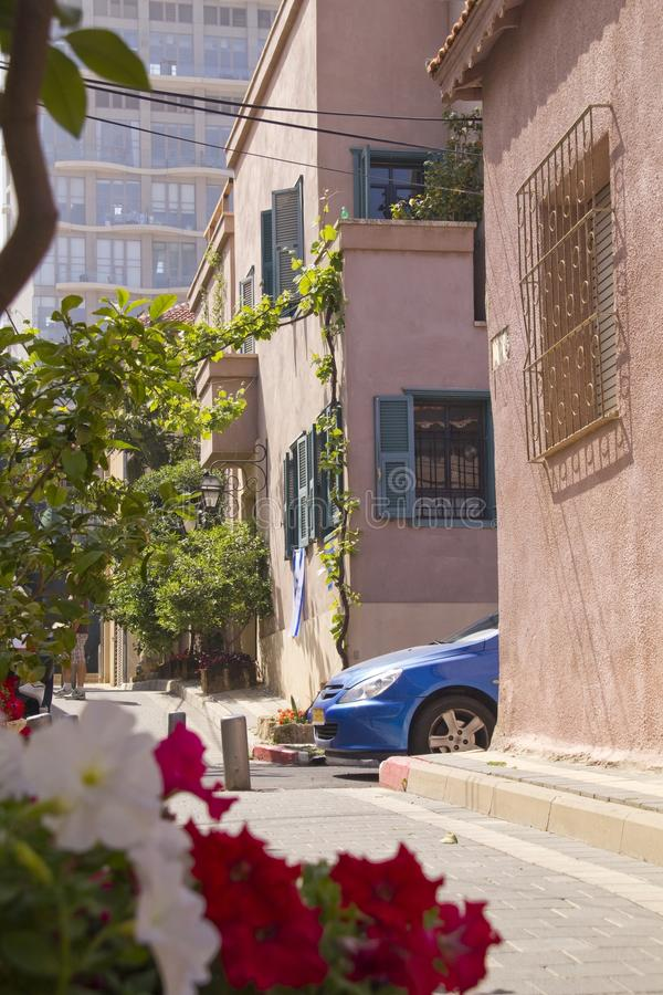 Old-Fashion Mediterranian street stock image