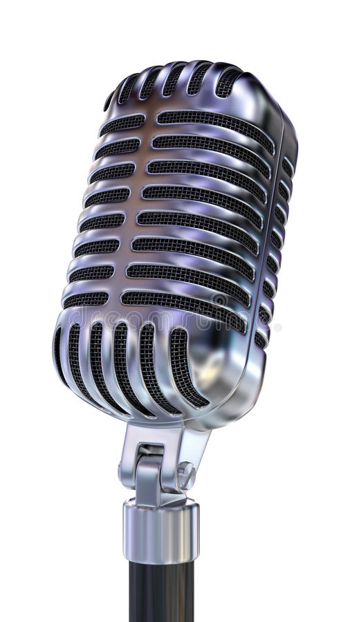 Download Old Fashion Microphone stock illustration. Image of broadcast - 25889313
