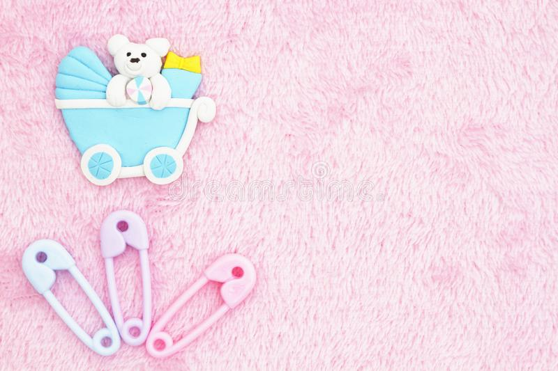Old fashion pink baby background royalty free stock photos