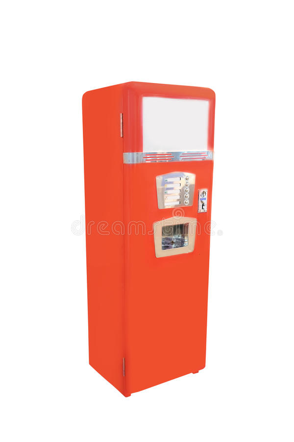 Old fashion soft drink vending machine. Image of an old fashion soft drink vending machine stock photography