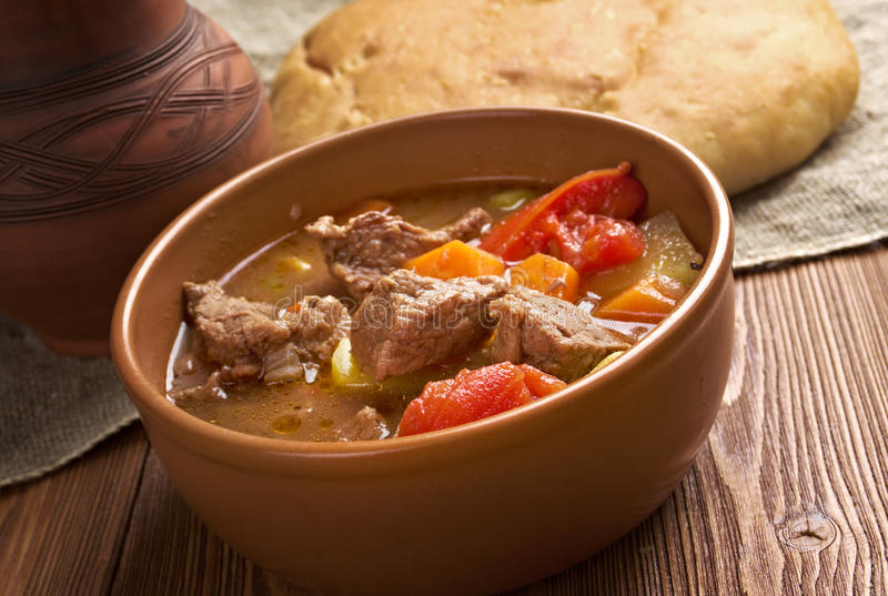 Old fashioned beef stew royalty free stock photo