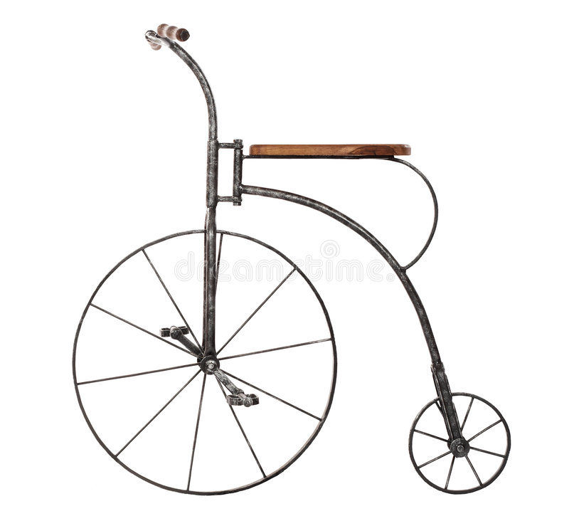Old fashioned bicycle royalty free stock photo