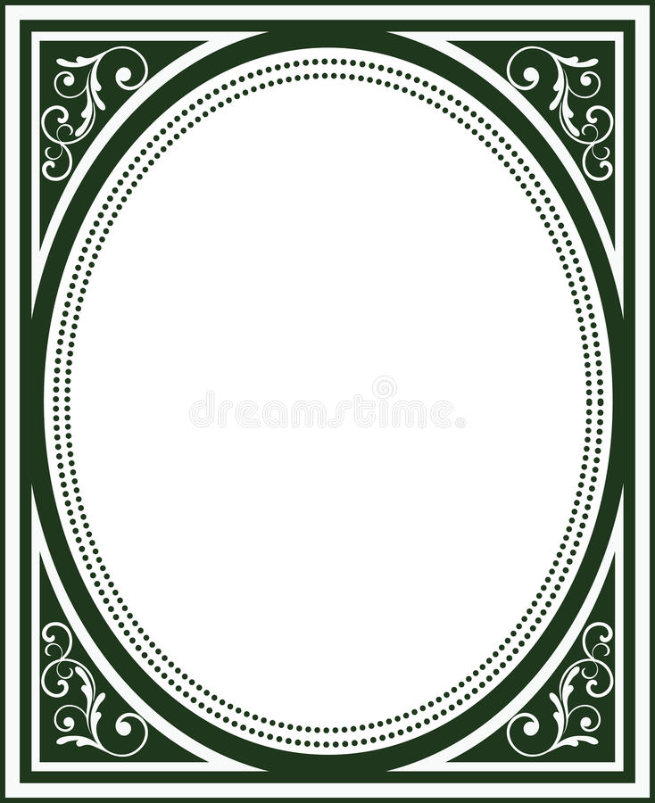 Old Fashioned Book Kindle Cover : Old fashioned book cover frame stock vector illustration