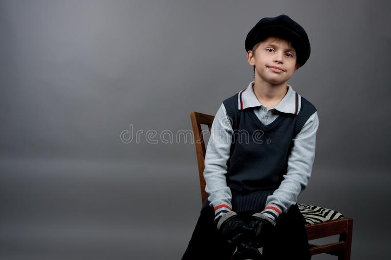 Old fashioned boy royalty free stock image