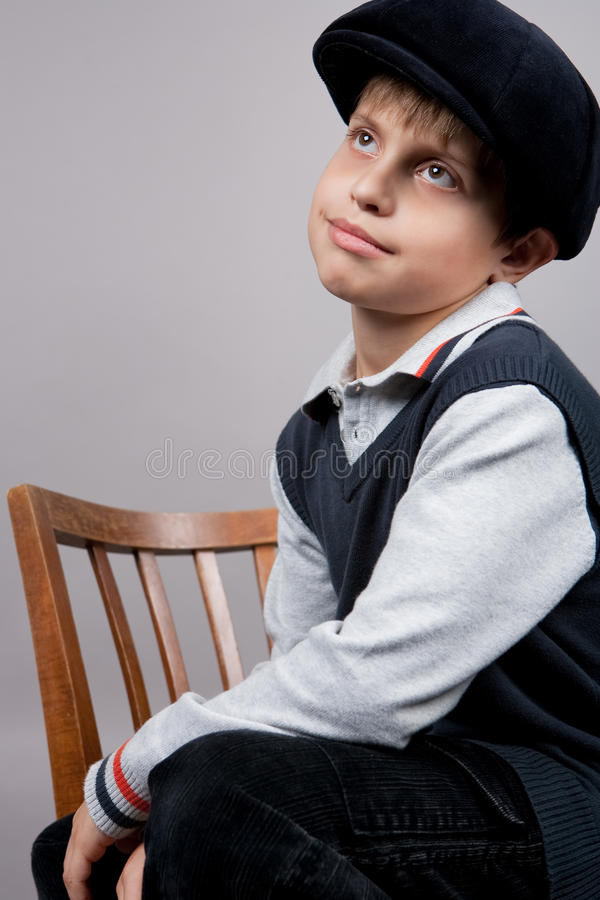 Old Fashioned Boy Stock Image Image Of Chair Dream 13545921