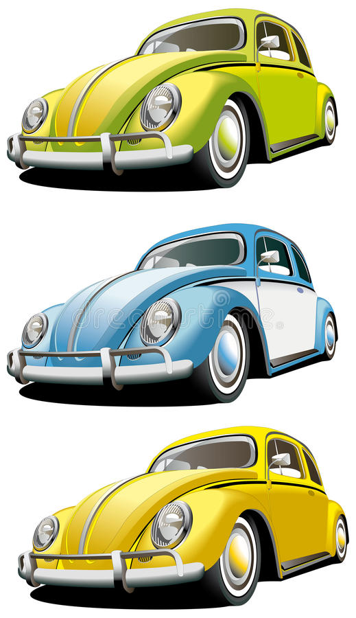 Download Old-fashioned car set stock vector. Illustration of style - 12395542
