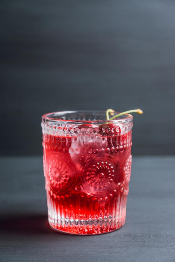 Old fashioned cherry cocktail stock images
