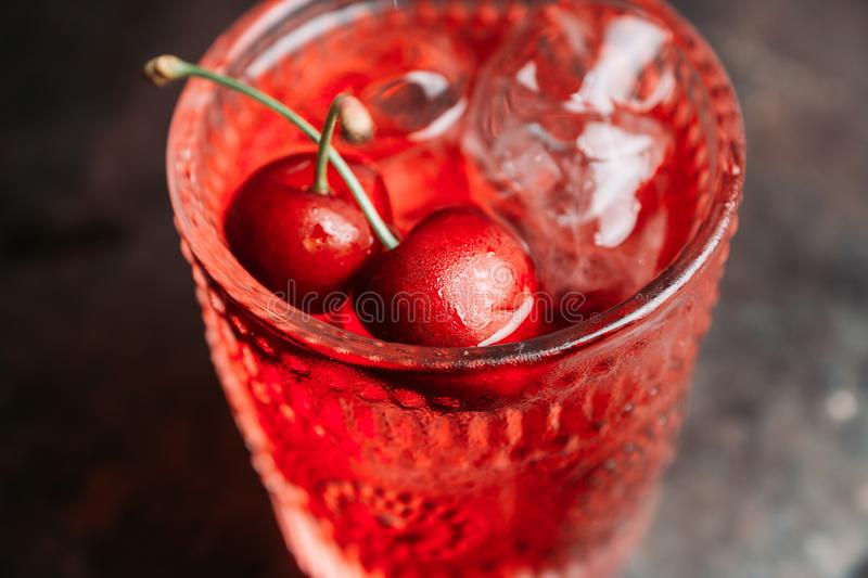 Old fashioned cherry cocktail stock photography