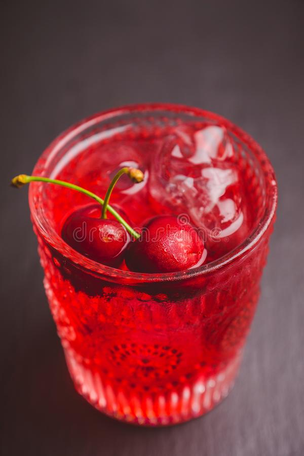 Old fashioned cherry cocktail stock photos