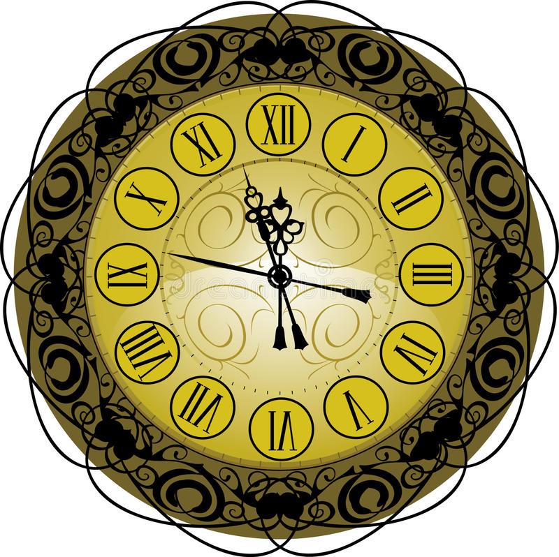 Download Old-fashioned clock stock vector. Image of minute, period - 13563996