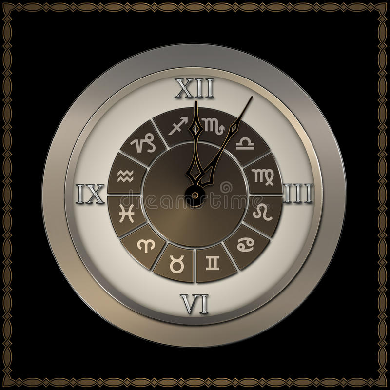 Download Old Fashioned Clock With Roman Numerals. Stock Illustration - Illustration: 25817493