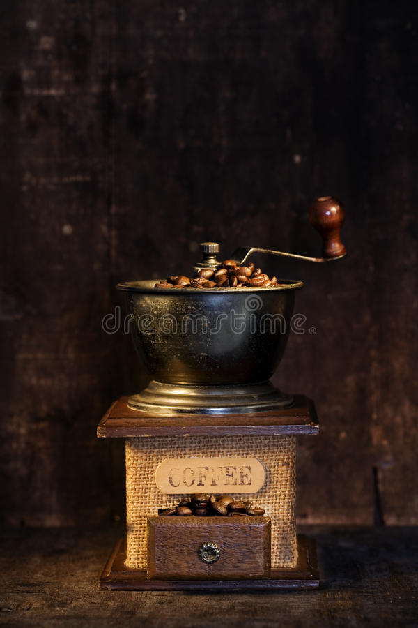 Old-fashioned Coffee Grinder Stock Image