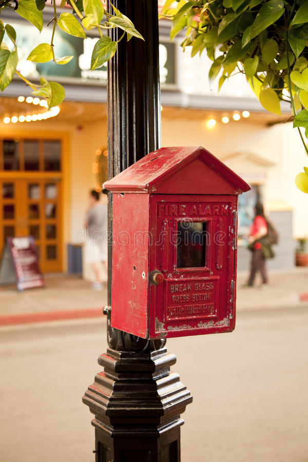 Old-fashioned d'alarme d'incendie photographie stock