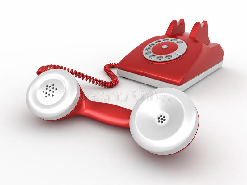 Download Old-fashioned disk phone stock illustration. Illustration of rotary - 17075280