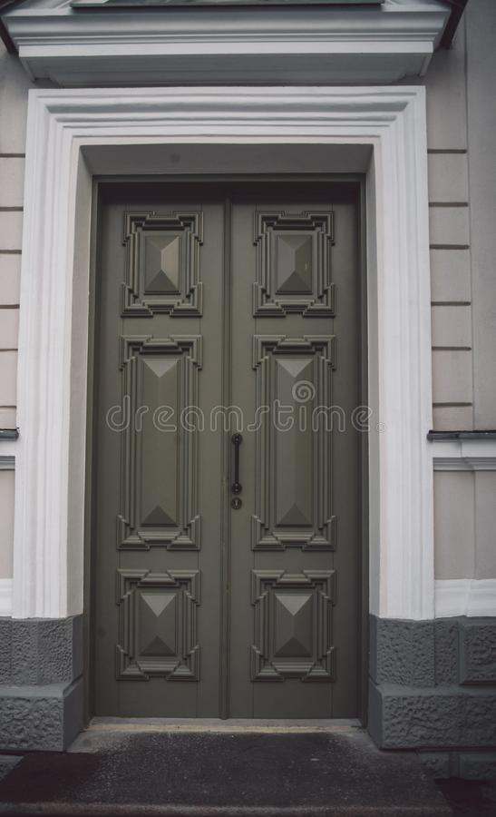 Old fashioned doors in classic style stock photo