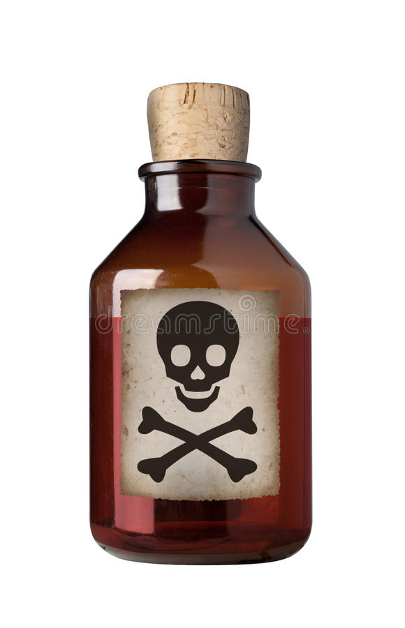 Download Old Fashioned Drug Bottle, Isolated. Stock Images - Image: 16333864