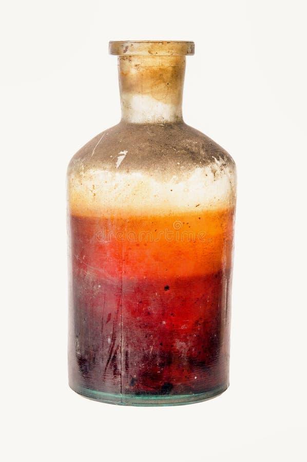 Old fashioned drug bottle stock image