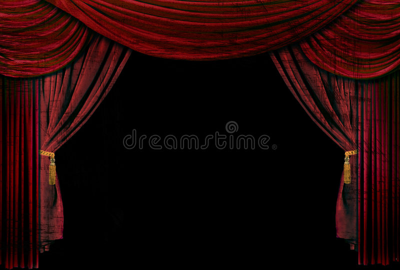 Download Old Fashioned, Elegant Theater Stage Drapes Stock Photo - Image: 8803714
