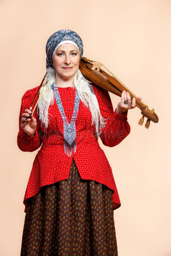 Old fashioned european woman stock photos