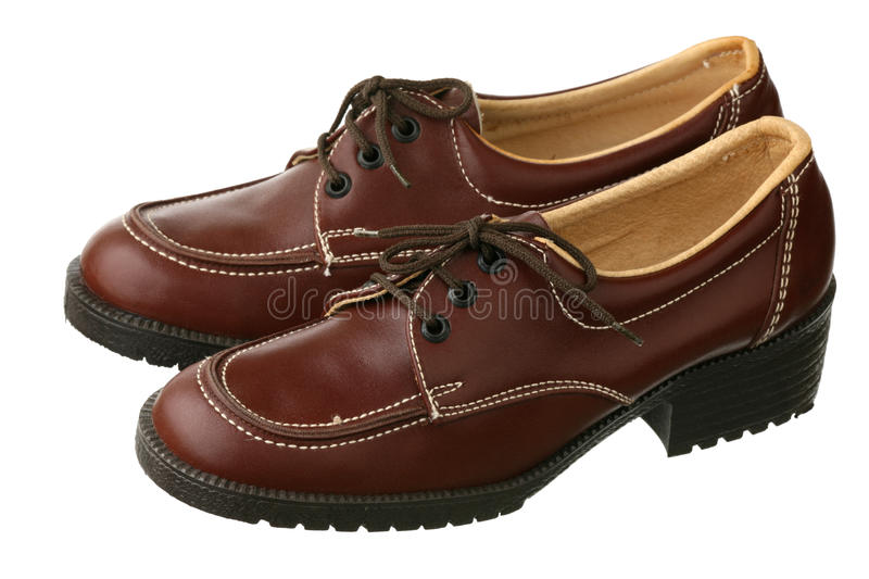 Old-fashioned Female Shoes Royalty Free Stock Photo