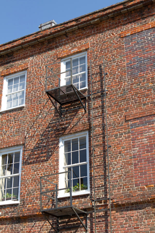 Download Old Fashioned Fire Escape stock photo. Image of apartments - 20540208