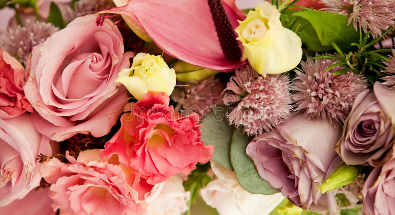 Old Fashioned Flower Arrangement Stock Images