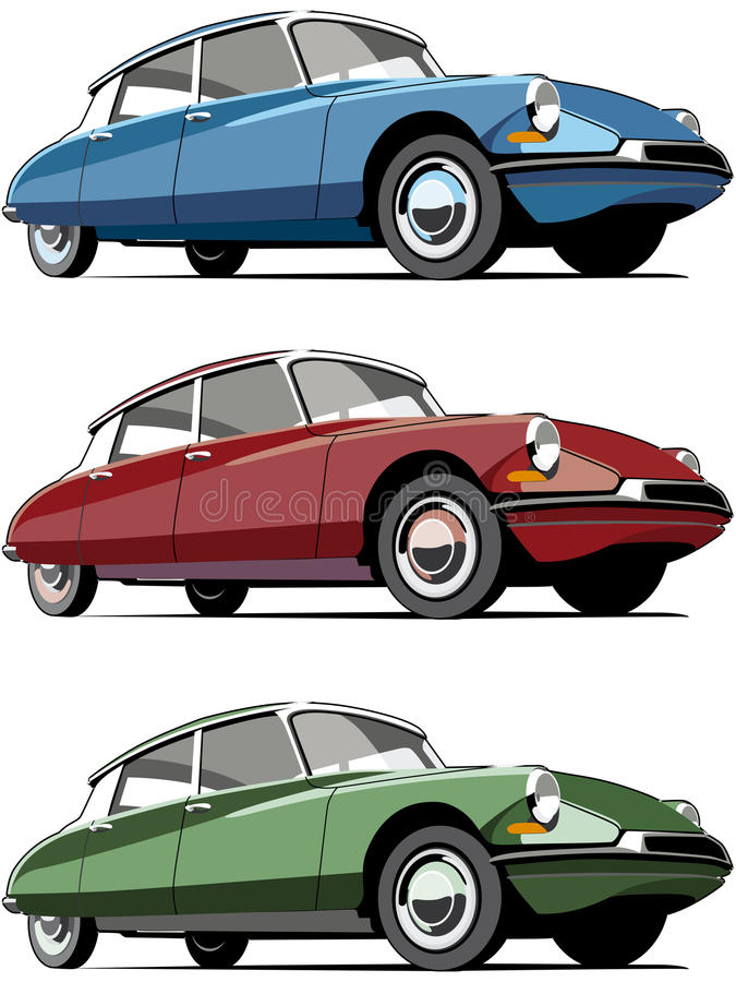 Old-fashioned French car stock vector. Illustration of front - 12710611