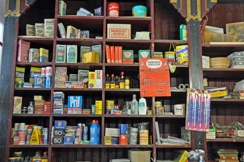 Old-fashioned general store royalty free stock photos