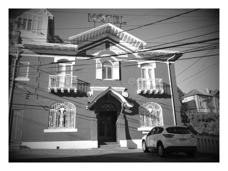 Old fashioned hotel in Cerro Castillo stock photos