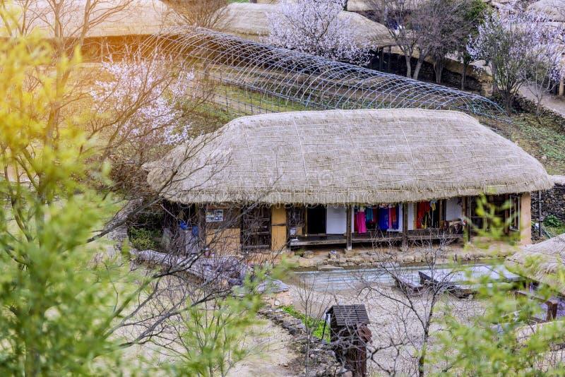 Old fashioned house in Naganeupseong Folk village,South Korea stock image