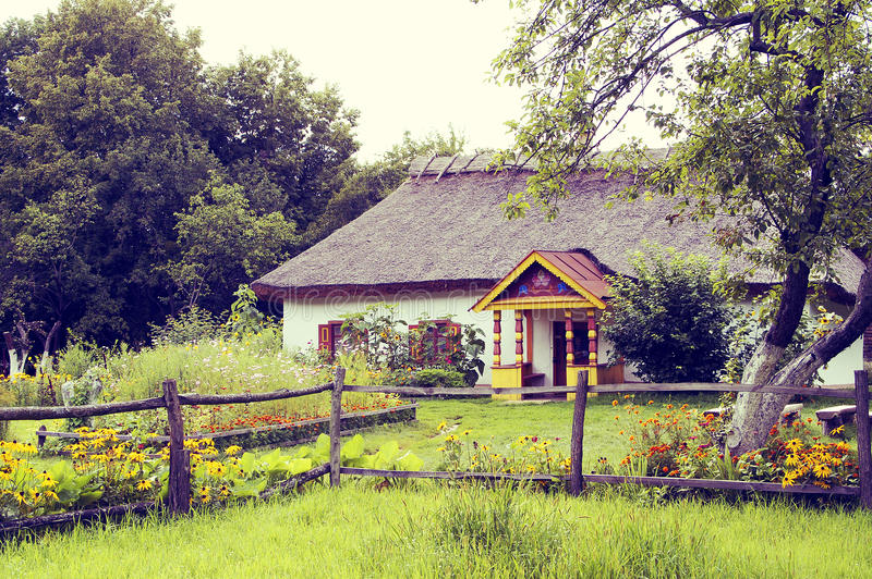 Download Old-fashioned Image Of Village Hut Stock Photo - Image of faded, damaged: 20766016