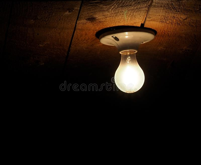 Incandescent Light Bulb With Ceramic Base Stock Image Of Electrical Illuminating
