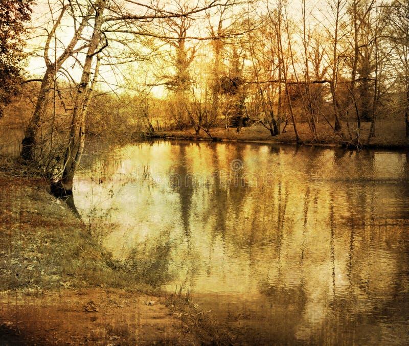 Old-fashioned Landscape Stock Photo