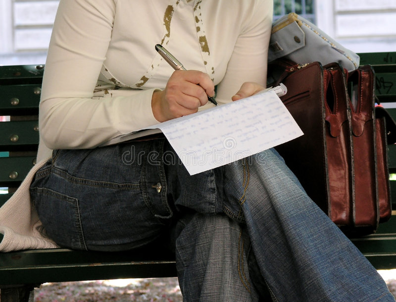 Old-fashioned letter writing. royalty free stock photography