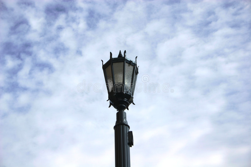 Old fashioned light fixture stock photography