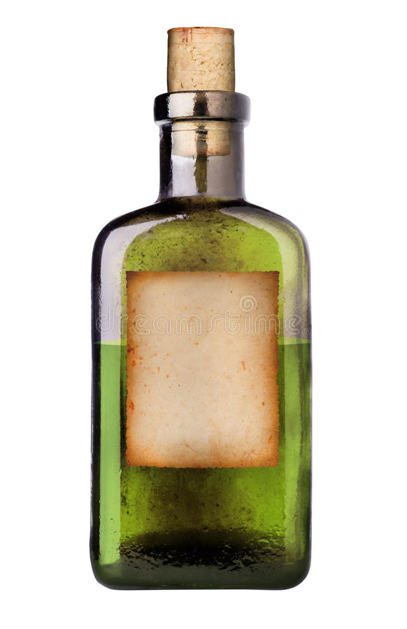 Old fashioned medicine bottle. royalty free stock photo