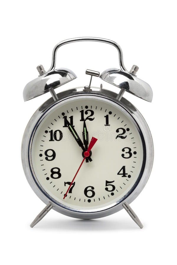 Old fashioned metal alarm clock royalty free stock photos