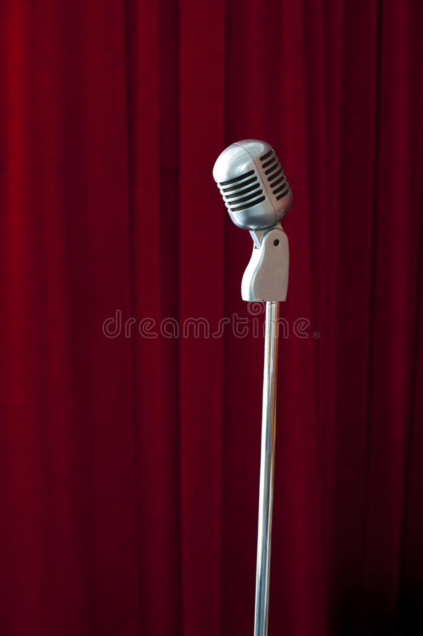 Download Old fashioned microphone stock photo. Image of metallic - 19188196