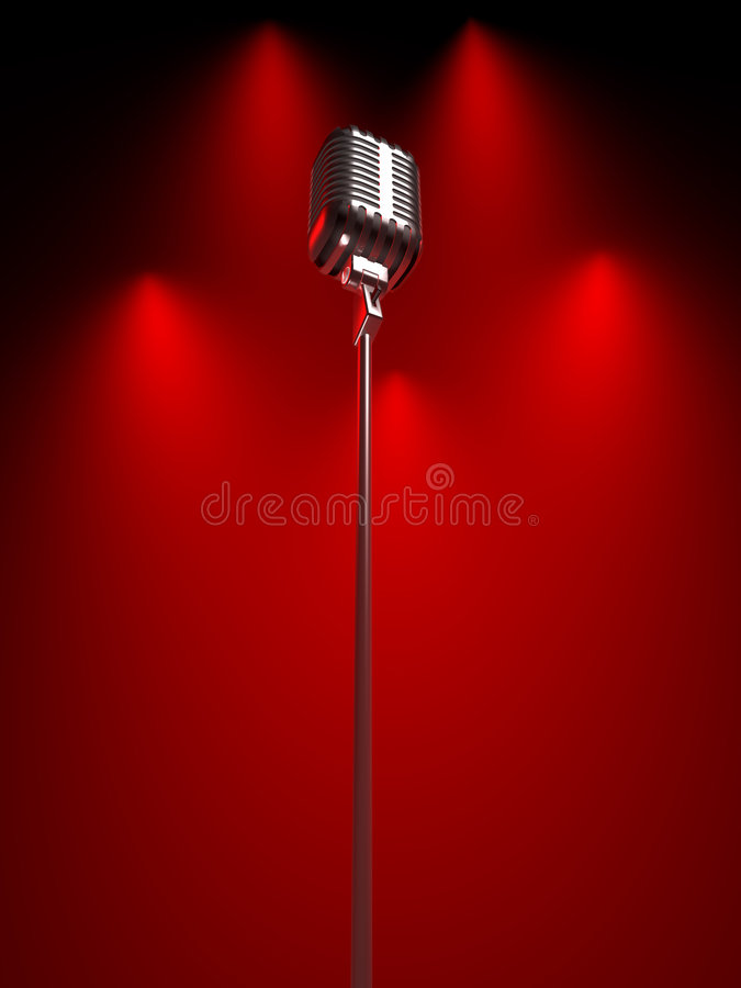 Free Old Fashioned Microphone Stock Photography - 4385602