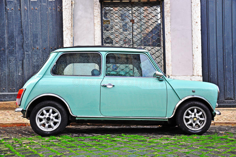 old fashioned mini cooper editorial photography image of europe 60991387. Black Bedroom Furniture Sets. Home Design Ideas